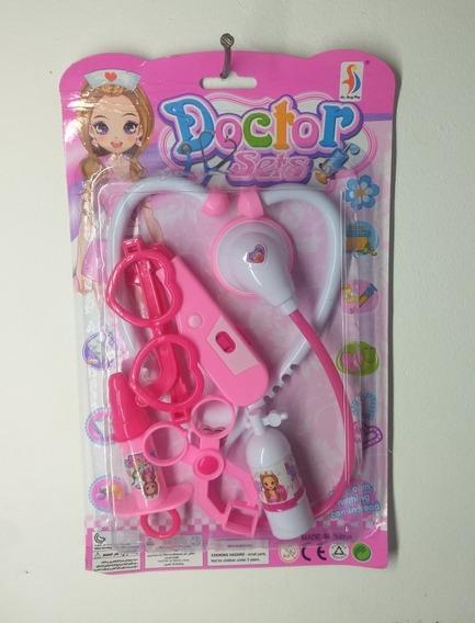 Brinquedo Kit Médico Termômetro Estetoscópio Para Menina