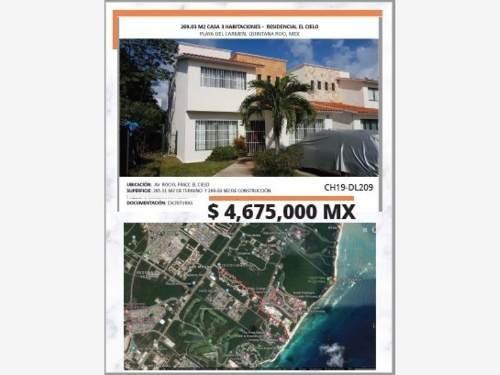 Casa En Venta En Playa Del Carmen - Residencial El Cielo