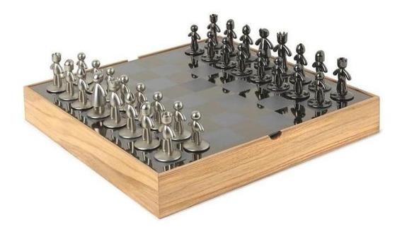 Jogo De Xadrez Buddy 35,5x35,5x11,7cm 1005304-390 Umbra