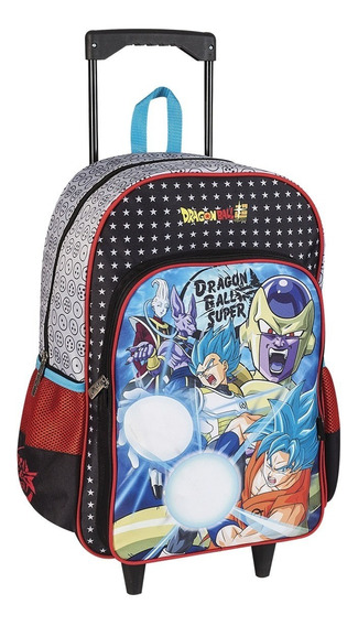 Mochila Escolar Con Carro Dragon Ball Z 18° Original Oferta