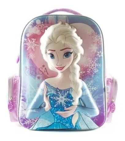 Mochila Frozen Elsa 17 Pulgadas 3d 79315