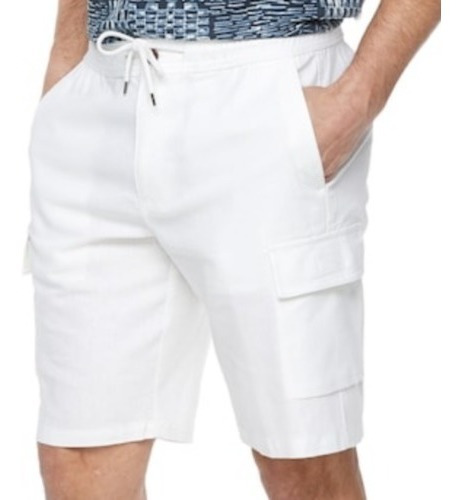 Shorts Havanera Cargo Color Blanco Xl De Hombre
