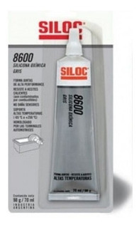 Forma Juntas Siloc 8600 Silicona Oximica Gris Pomo 98 Gr