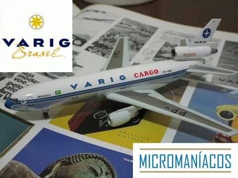 Varig Brasil Dc-10-30 (vintage) Dragon Wings - Frete Grátis
