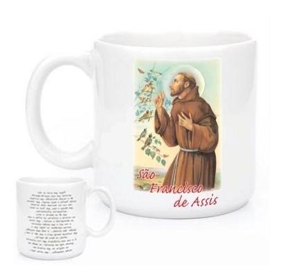 Imagem 1 de 2 de Canecas Religiosas São Francisco De Assis  Com Oração 580