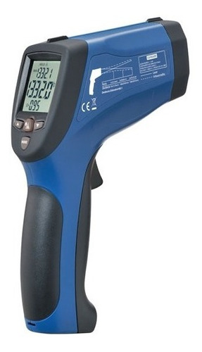 Termômetro Infravermelho Laser Duplo -50 A 1850c C/ Software