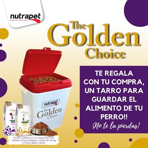 Imagen 1 de 3 de Golden Choice Cachorro 14 Kg + Contenedor + Salsa + Envio!