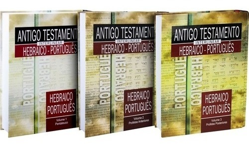 Livro Kit Antigo Testamento Interlinear Hebraico-português