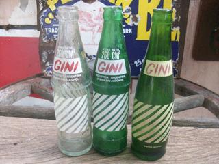 Gini Lote De Tres Botellas Argentinas