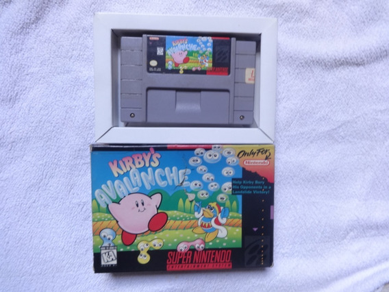 Kirbys Avalanche Original Com Caixa Original Nintendo .