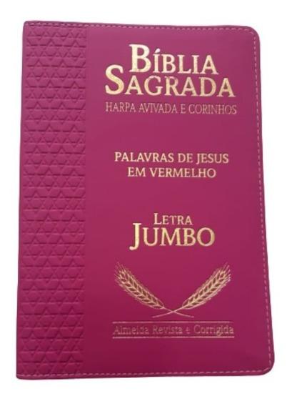 Bíblia Sagrada Letra Jumbo Revista E Corrigida E Índice Luxo