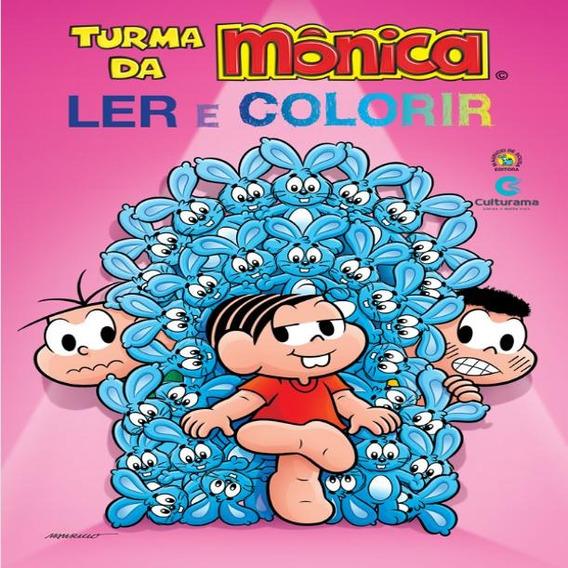 Livro Gigante Ler E Colorir Da Mônica 8 Páginas - 129140
