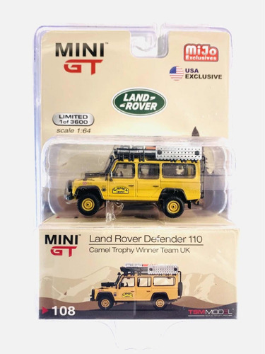 Land Rover Defender 110 Camel Trophy Winner Mini Gt Mijo 108