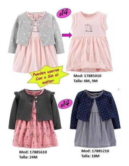 Vestidos Conjuntos Carters Para Niña Hasta Talla 2t