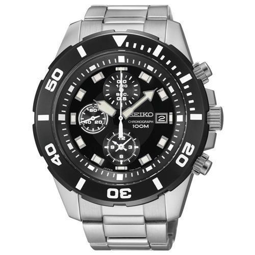 Relógio Masculino Analógico Seiko 7t92ch/1 Prata/preto