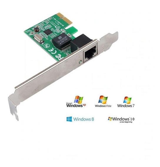 Placa De Rede Pci Express 10/100 Rj-45 Windows Xp/7/8/10