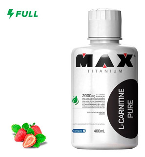 L-carnitina Carnipure 400ml - Max Titanium - Promoção