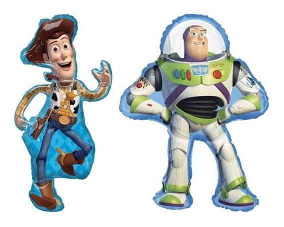 Globos Gigantes De Toy Story De Woody Y Buzz (2 Pzs)