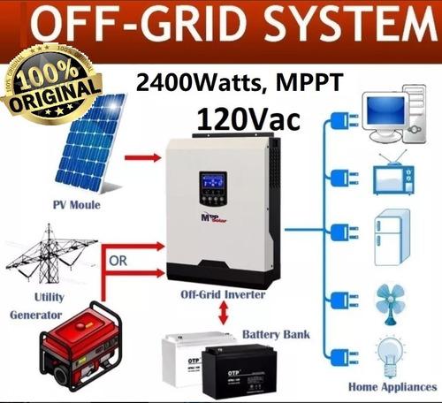Inversor Solar Cargador 3kv Cfe Mppt Isla Off-grid Nobreak