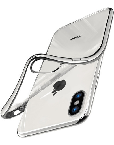 Forro Case iPhone X Clear Transparente Goma Dura Shockproof