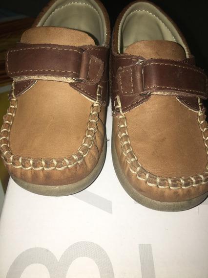 Zapatos Batistella De Cuero Con Abrojo Para Niño Impecables!