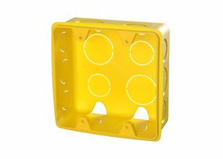 Kit Com 48 Caixa De Luz , 4x4, Amarelo Plasbohn