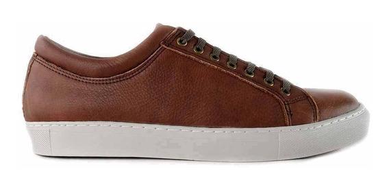 Zapatilla Cuero Hombre Zapato Confort Briganti Hczp14118