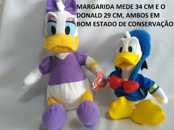 Pelúcias Margarida E Pato Donald Usado Bom Estado B6