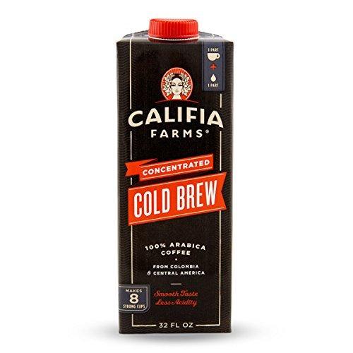 Califia Farms Concentrated Cold Brew Black Coffee, Black, 32