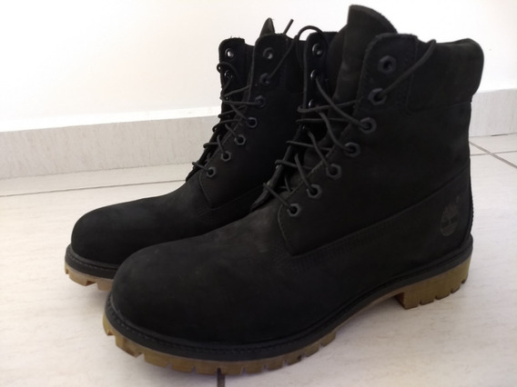 Bota Timberland Black Boot Original (10 Us) Nº. 42 Br