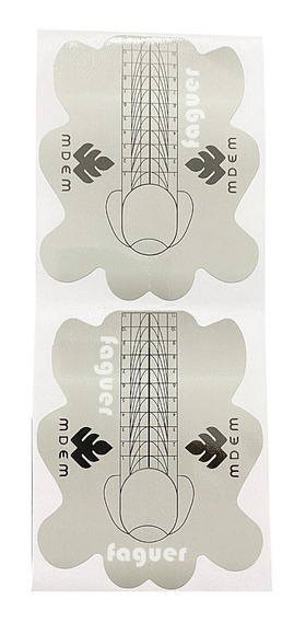 300 Moldes Adhesivos Para Uñas Esculpidas Estructuras Faguer