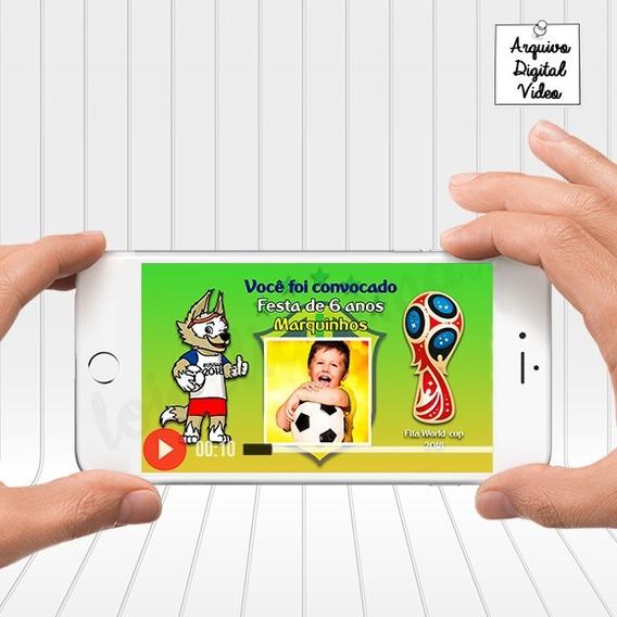 Convite Animado Futebol Copa Da Rússia 2018 Brasil
