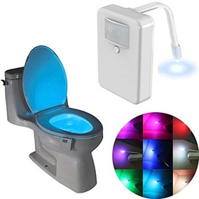 Luminaria Vaso Sanitario Lightbowl Com Sensor E Led 8 Cores
