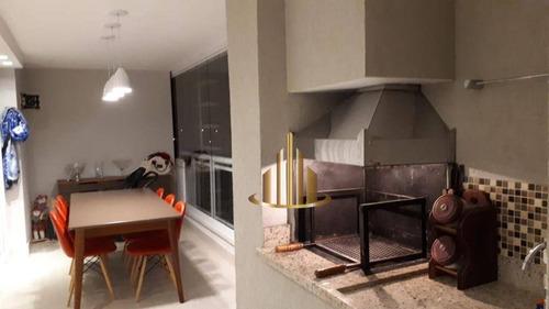 Apartamento Com 3 Dormitórios Sendo 1 Suíte À Venda, 156 M² Por R$ 1.370.000 - Alphaville - Barueri/sp - Ap1182