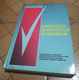 Libro Evaluación De Proyectos De Inversión, 2da Edición