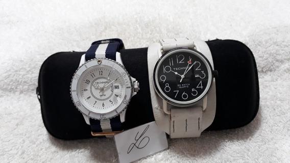 Relógios Technos, A Quartz ( Conjunto Com 2) !