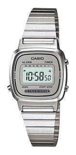 Reloj Mujer Casio La-670wa-7 Plateado Digital / Lhua Store