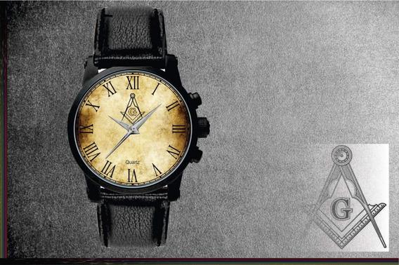 Relógio De Pulso Personalizado Maçonaria Maçon - Cod.1121