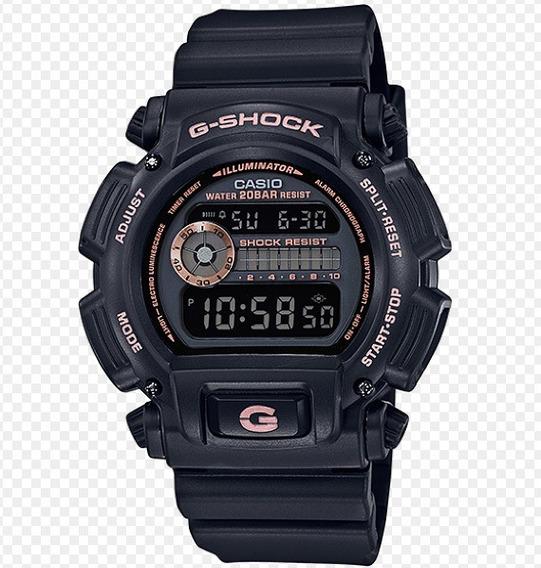 Relógio Casio G Shock Dw-9052gbx-1a4dr Preto Rose Original