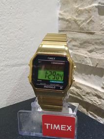 Relogio Timex Indiglo W116 Dourado Unissex