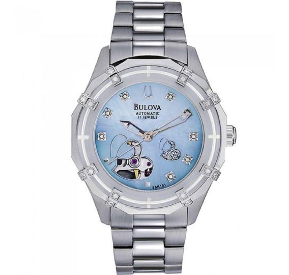 Relógio Feminino Bulova Automatic 21 Jewels Wb38204f Aço