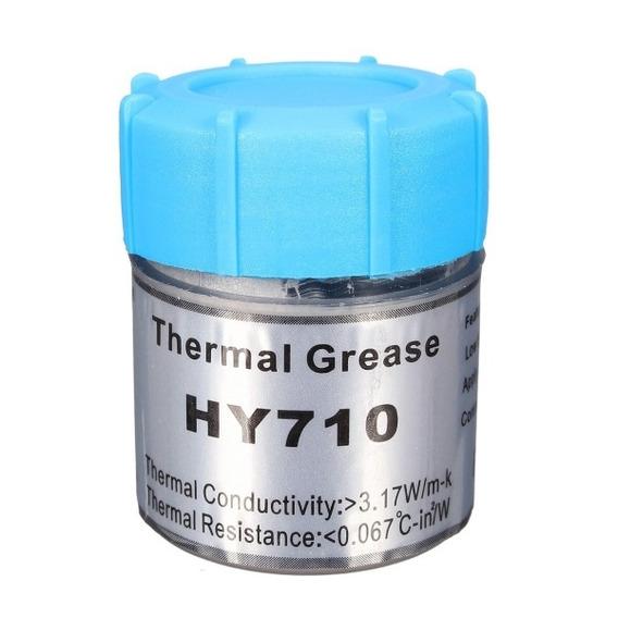 Pasta Térmica Thermal Grease 10g Prata Cinza Halnziye Hy710