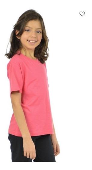 Kit 5 Camisetas Infantil Gola Redonda Unissex 17270
