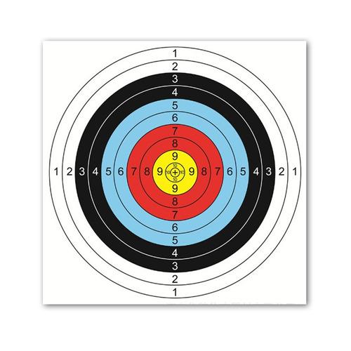 Bcp 20pcs Multicolor 40cm 10ring Target Papel