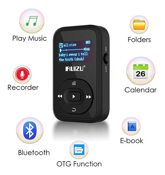 Mp3 Player Ruizu 8gb X26 Bluetooth Promoção Frete Grátis