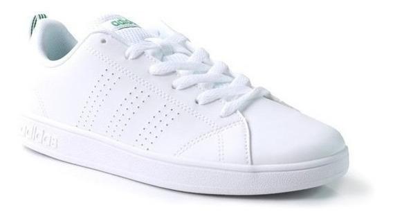 Tenis adidas Advantage Clean Escolar Unisex Blanco/verde Remate Originales Comodos