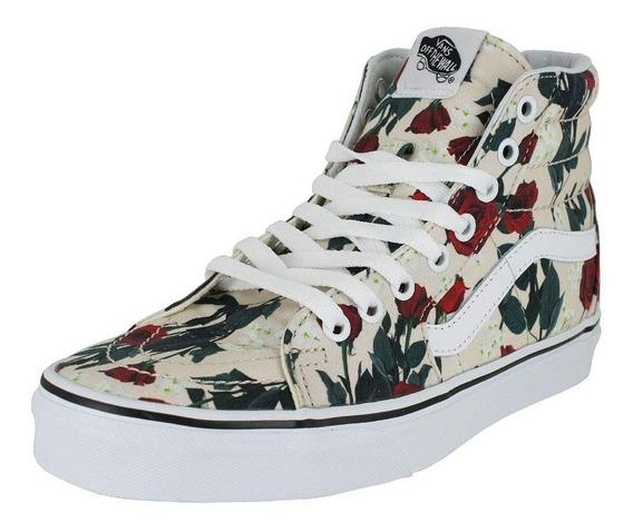 Tênis Vans Original Sk8 Hi Roses Feminino