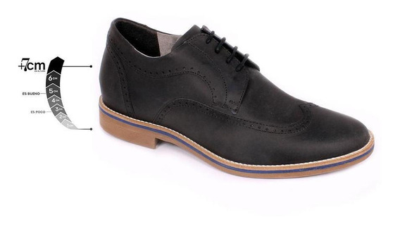 Zapato Casual Oxford Negro Max Denegri +7cms De Altura -30%