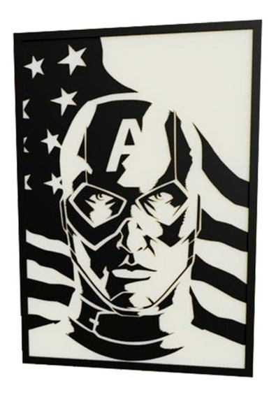 Cuadro Capitan America De Los Vengadores (avengers) Deco 3.0