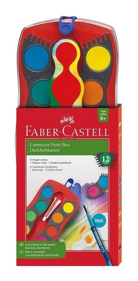 Acuarela Faber Castell Connector X12 + Pincel